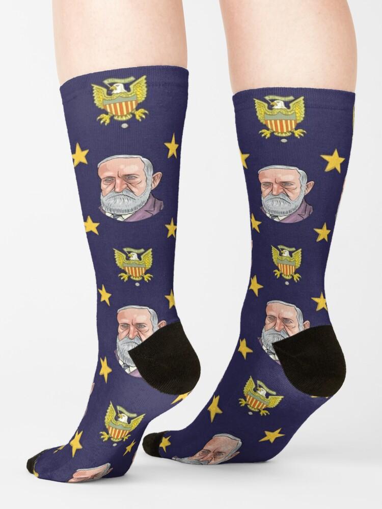 Alternate view of President Benjamin Harrison Socks