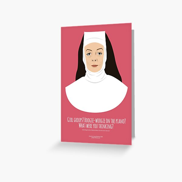 Boogie Woogie Reverend Mother Greeting Card