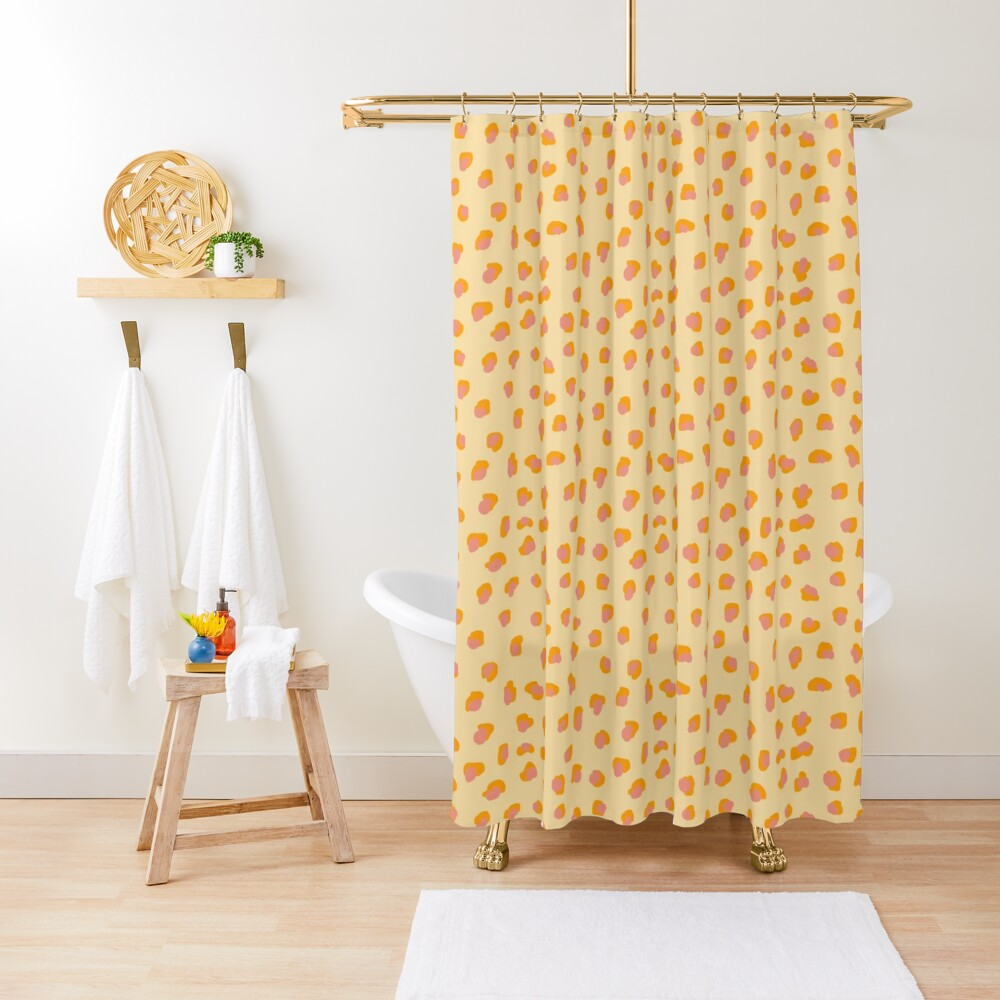 Cute saffron pink animal print  Shower Curtain