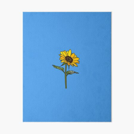 Aesthetic Sunflower Art Board Print By Rocket To Pluto Redbubble