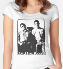 Jack Kerouac On the Road Women's Fitted Scoop T-Shirt