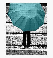 Tiffany Blue Umbrella Photographic Print