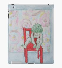 On the red chair iPad Case/Skin