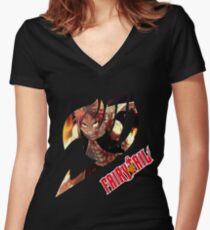 Natsu Dragneel  Women's Fitted V-Neck T-Shirt
