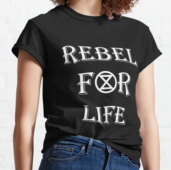Rebel for Life Extinction Rebellion Logo Classic T-Shirt