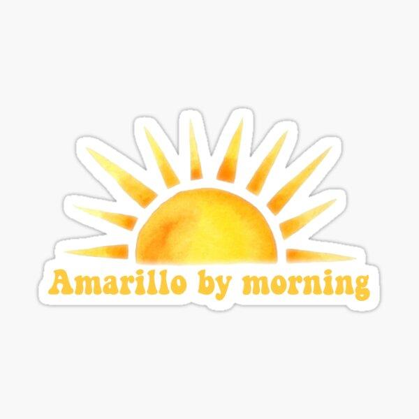 Amarillo por la mañana Pegatina