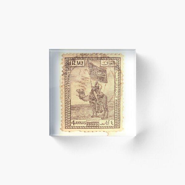 Iraqi Stamp, 1930s Acrylic Block