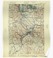 USGS Topo Map Oregon Oregon City 282773 1914 62500 Poster