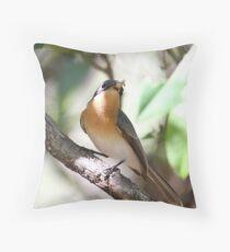 leaden flycatcher Throw Pillow