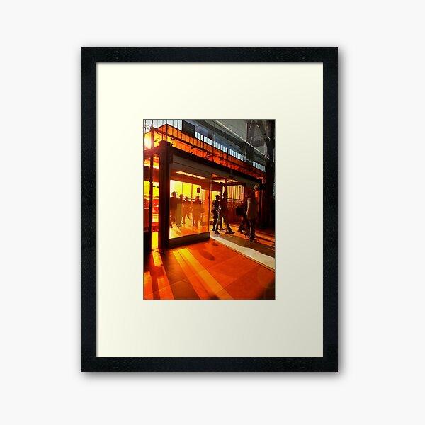 In the orange Framed Art Print