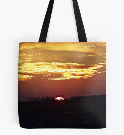 Skies Aflame Tote Bag