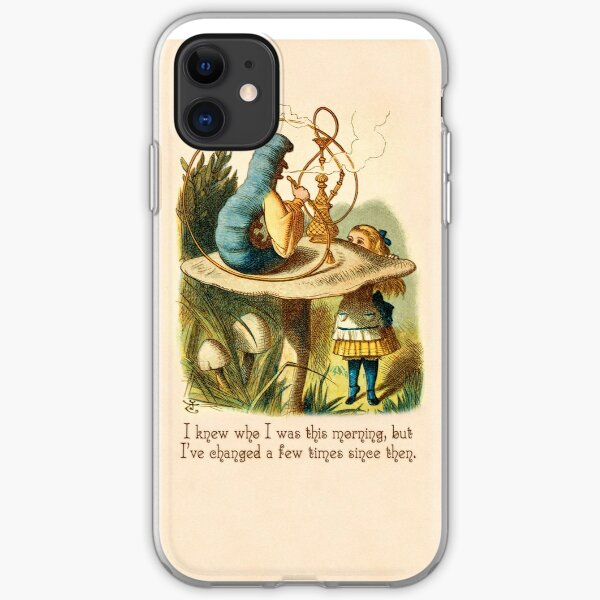 Alice in Wonderland Quote -  I Knew Who I Was - Caterpillar Quote - 0235 iPhone Soft Case