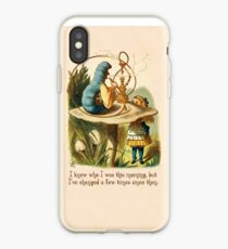 Alice in Wonderland Quote -  I Knew Who I Was - Caterpillar Quote - 0235 iPhone Case