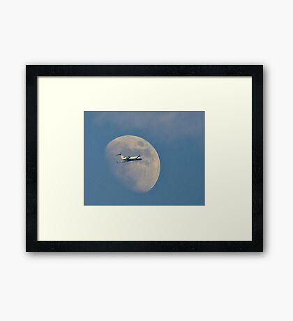 Moon Approach Framed Print