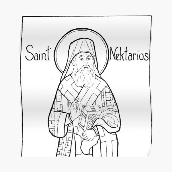 St Nektarios Poster