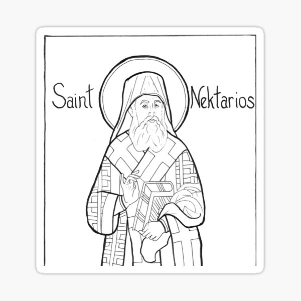 St Nektarios Sticker