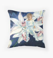 Orchid Fae Throw Pillow