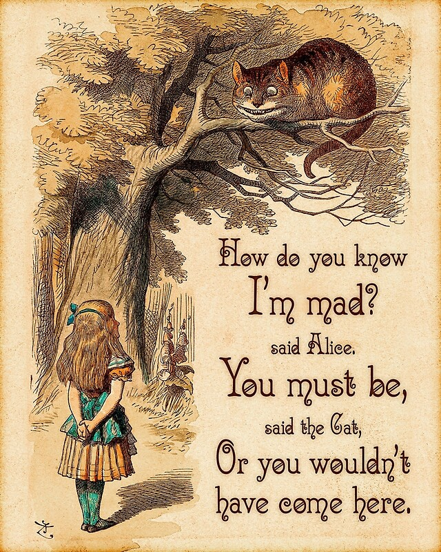 Alice In Wonderland Quote Captivating Alice In Wonderland Quote  How Do You Know I'm Mad  Cheshire Cat
