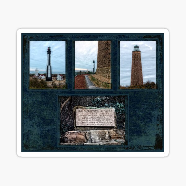 Cape Henry Lighthouses - Old and New Sticker