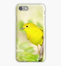 Yellow Warbler - Songbird Art iPhone Case/Skin