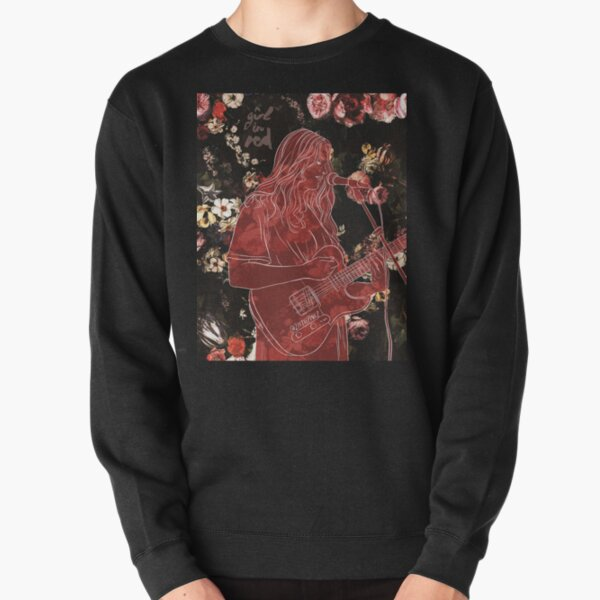 Girl in Red Pullover Sweatshirt