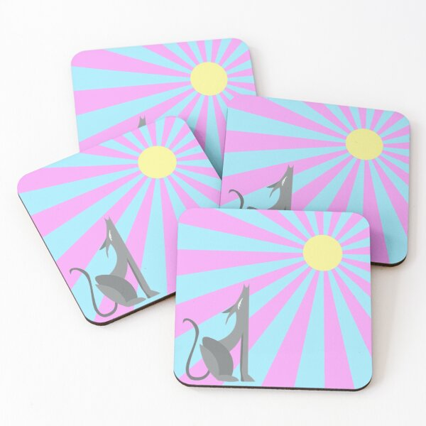 Moon Dog Coasters (Set of 4)