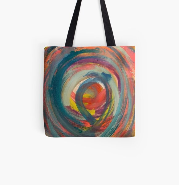 Running in Circles   All Over Print Tote Bag