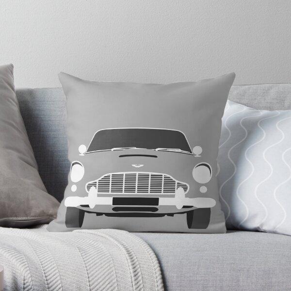 Aston Martin DB5 Minimalist Art Print Throw Pillow
