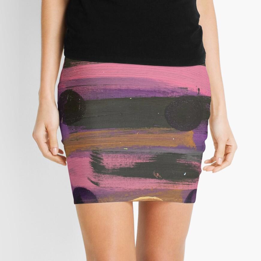 Indigo Ladybug  Mini Skirt
