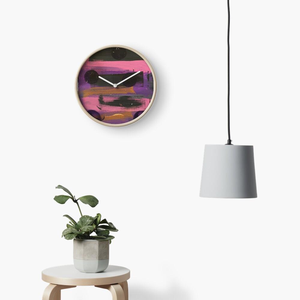 Indigo Ladybug  Clock