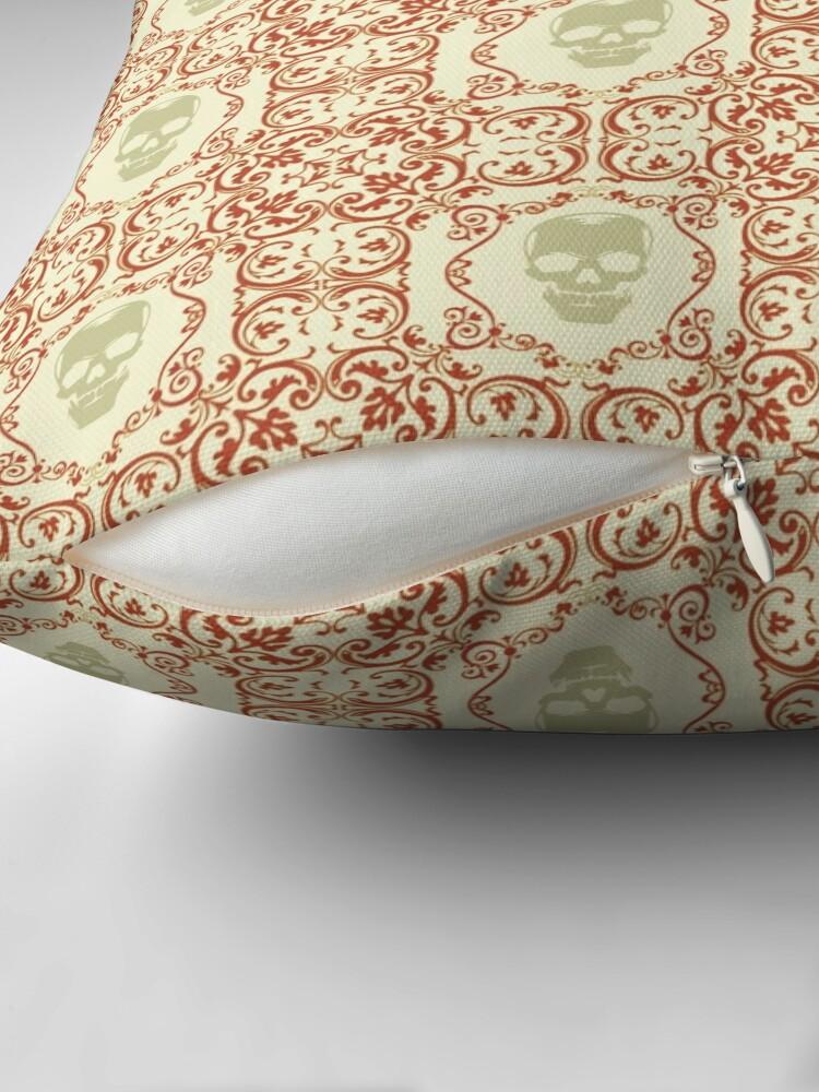 Alternate view of Art Nouveau Skulls Throw Pillow