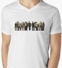 The Walking Dead Cast Men's V-Neck T-Shirt