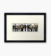The Walking Dead Cast Framed Print