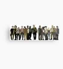 The Walking Dead Cast Metal Print
