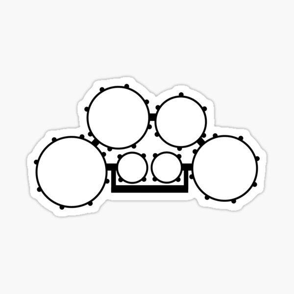 Tenor Drums - Outline Sticker