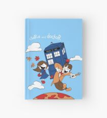 Clara and Doctor travel with Tardis Hardcover Journal