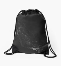 Roads of California. (White on black) Drawstring Bag