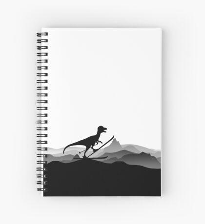 DINO ON SKI - Skiing Dinosaur - Dino Collection Spiral Notebook