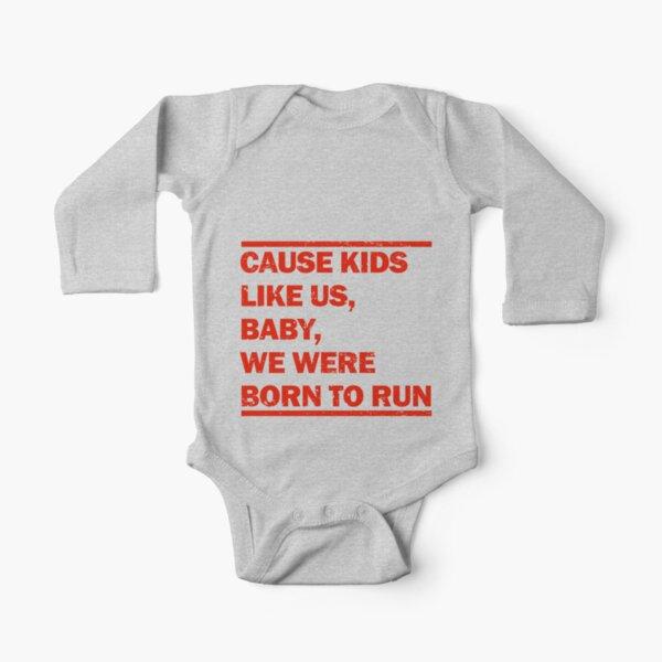 Born to Run Long Sleeve Baby One-Piece
