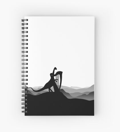 DINO MUSICIAN - Dinosaur with Harp - Dino Collection Spiral Notebook