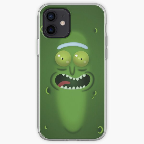 Pickle Rick Flat Face iPhone Soft Case