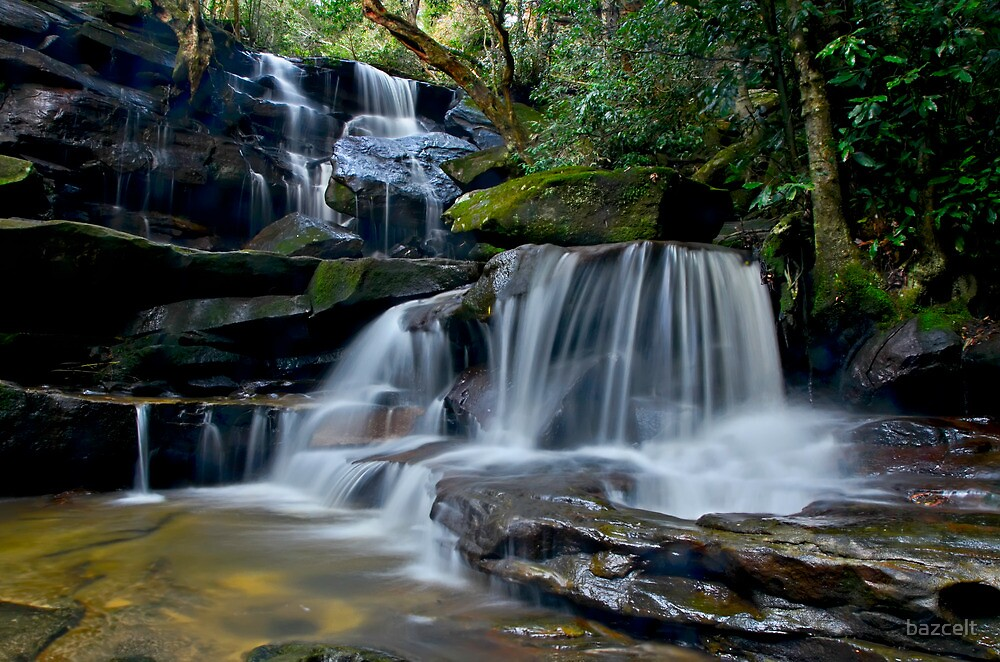 Cascading Somersby Falls by bazcelt