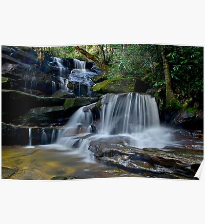 Cascading Somersby Falls Poster