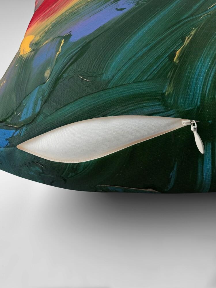 Alternate view of Rainbow junk mail  Throw Pillow