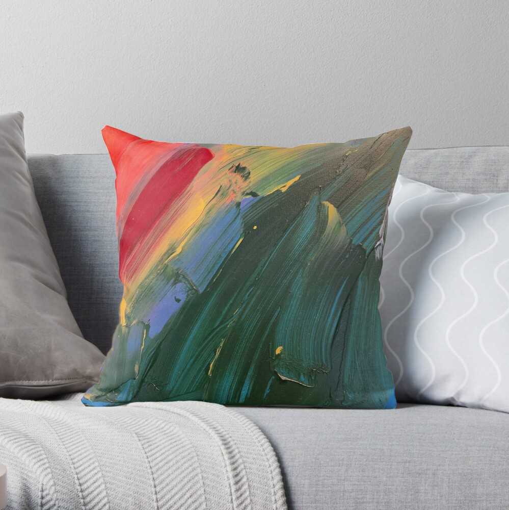 Rainbow junk mail  Throw Pillow