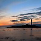 St Mary's Lighthouse at dawn by Michael Ridley