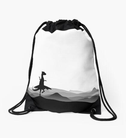 DINO BALLERINA  - Ballerina Dinosaur - Dino collection Drawstring Bag