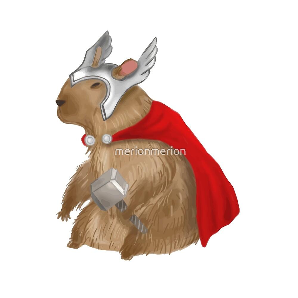 Capybara Thor by merionmerion