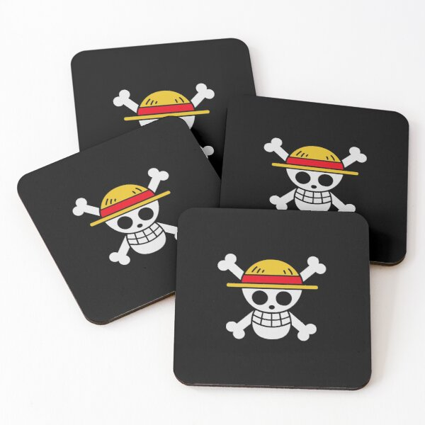 Strawhats Jolly Roger Coasters (Set of 4)