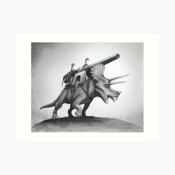 Triceracannon Art Print